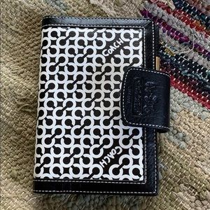 Coach Address Book with built in wallet